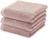 Aquanova London - Handdoek - 55x100 cm - Dusty pink - Set van 3