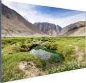 Landschap op weg naar de Himalaya Aluminium 30x20 cm - klein - Foto print op Aluminium (metaal wanddecoratie)
