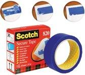 2x Scotch plakband Secure Tape blauw
