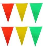 Vlaggenlijn Carnaval Limburg rood/geel/groen 6m