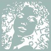 Pronty Mask stencil Silhouette woman 470.801.047 15x15 centimeter