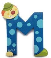 Janod Clown Letter - letter M - Blauw