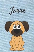 Jonne Notizbuch Hunde / Malbuch / Tagebuch / Journal / DIN A5 / Geschenk: individuelles personalisiertes blanko Jungen & M�nner Namen Notizbuch, ... W