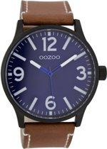 OOZOO Timepieces Cognac/Blue horloge C7406