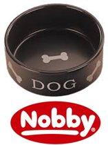 Nobby eetbak dog opdruk bruin 15 cm