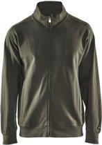 Blåkläder 3349-1048 Sweatshirt lange rits Army Groen maat XS