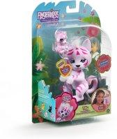 Afbeelding van WowWee Fingerlings Katachtigen Robot met Welpje - Roze Tijger speelgoed