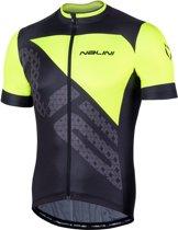Nalini Vittoria 2.0 Fietshirt - Zwart/Fluo Geel - Maat XL