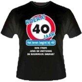 Leeftijd T-Shirt - 40 jaar. Maat XL