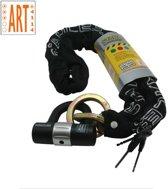Stahlex Kettingslot met Hangslot - Ø10mm / 140cm / ART3 - Gehard Staal - Scooterslot - Motorslot - Zwart