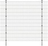 vidaXL Dubbelstaafmat 2008 x 2230 mm 8 m zilver 4 stuks