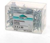 Hoenderdaal Draadnagel plat geruite kop gegalvaniseerd 2.4 x 50mm 350 gram (Prijs per 2 dozen)
