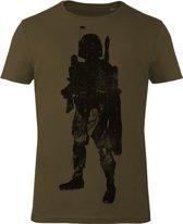 Star-Wars-T-shirt-met-korte-mouw-olijfgroen - Maat XL