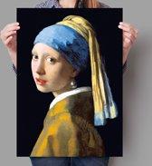 Poster Meisje met de parel - Johannes Vermeer - zonder verfscheuren