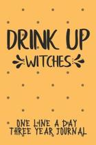 Drink Up Witches One Line A Day Three Year Journal
