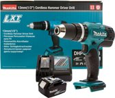 Makita DHP453 18V Li-Ion LXT Accuboormachine set - 1 x 3.0Ah Accu - Acculader