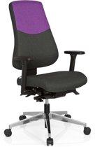 hjh office Pro Tec 600 - Bureaustoel - Stof - Donkergrijs / lila