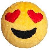 FabDog Faball Heart Eyes Emoji - Hond - Speelgoed - Maat M: 10,2 cm - Geel
