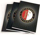 Schriften Feyenoord Grijs - 3 Stuks A5 Gelijnd