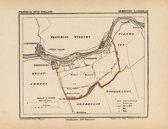 Historische kaart, plattegrond van gemeente Langerak in Zuid Holland uit 1867 door Kuyper van Kaartcadeau.com