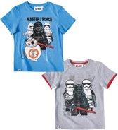 LEGO-Star-Wars-2-pak-T-shirt-grijs - Maat 116