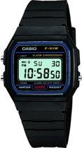 Casio F-91W-1Yef - Horloge - Zwart