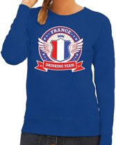 Blauw France drinking team sweater dames L