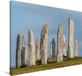 De historische Calanais Standing Stones in Europa Canvas 140x90 cm - Foto print op Canvas schilderij (Wanddecoratie woonkamer / slaapkamer)