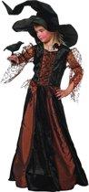 Carnavalskleding Heksen Morgana bruin meisje Maat 116