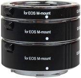 Caruba Tussenringenset voor Canon EOS M systeemcamera met metalen vatting