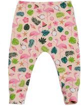 Roze broekje voor meisjes met flamingo's en ijsjes- R Rebels