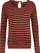 Queen Mum Shirt - Brown Stripe - Maat L