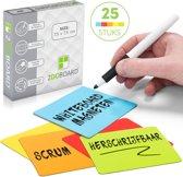 25 Scrum Whiteboard Magneten 7,5 x 7,5 cm Herschrijfbaar Mix - 5 Kleuren - Agile - Lean