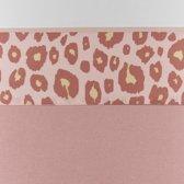Meyco wieglaken Panter - 75x100 cm - roze