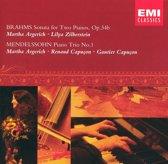 Brahms: Sonata for Two Pianos, Op. 34b; Mendelssohn: Piano Trio No. 1