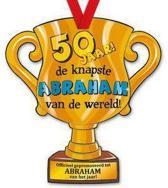Trofee met lint - Trophy - Abraham - 50 jaar