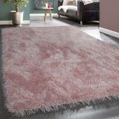 Trendy Design Vloerkleed Shaggy Tapijt Roze Glitter 160 x 230 cm
