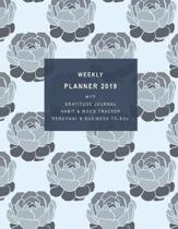 Weekly Planner 2019 with Gratitude Journal Section, Habit and Mood Tracker, Personal and Business To-DOS