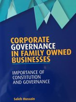 Corporate Governance in Family Owned Businesses
