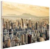 Sao Paulo Brazilie Hout 30x20 cm - Foto print op Hout (Wanddecoratie)