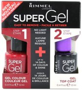 Rimmel London Super Gel Duo Nagellak - 042 Rock N Roll + Topcoat