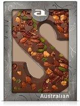 Australian Luxe Chocoladeletter Melk - letter S - 5 x 190 gram