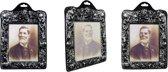 Halloween - Horror holografisch skelet portret man 26 x 20 cm - Halloween decoratie