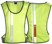 Wowow Jacket 3.2 Dark - Loophesje Fluorgeel met LED voor/achter -  Maat Xl / Xxl