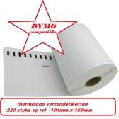 4 x (220 per rol) Dymo S0904980 compatible extra grote verzendetiketten voor labelwriter 4XL!