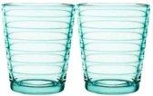 Iittala Aino Aalto Glas - 22 cl - Watergroen - 2 stuks