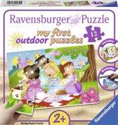 Ravensburger Zoete prinsessen plastic puzzle - 12 stukjes - kinderpuzzel