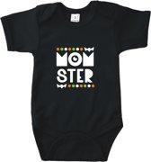 Baby rompertje Monster | Korte mouw 50/56 zwart