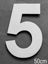 Xaptovi Huisnummer 5 Materiaal: RVS - Hoogte: 50cm - Kleur: RVS