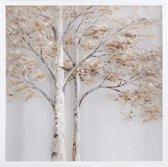 Olieverfschilderij op acrylglas + lijst - bomen